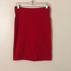 Red Pencil Skirt size M